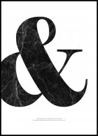 Ampersand & Marble Poster