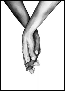 Holding Hands Poster