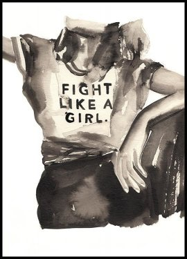 Fight like a Girl Poster
