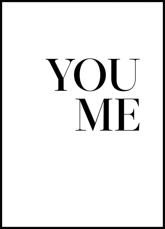 You. Me. Poster