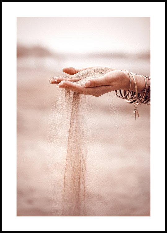 Sand Falling Poster