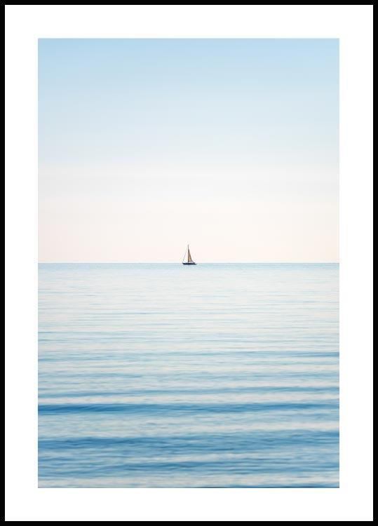 Horizon sailboat Poster